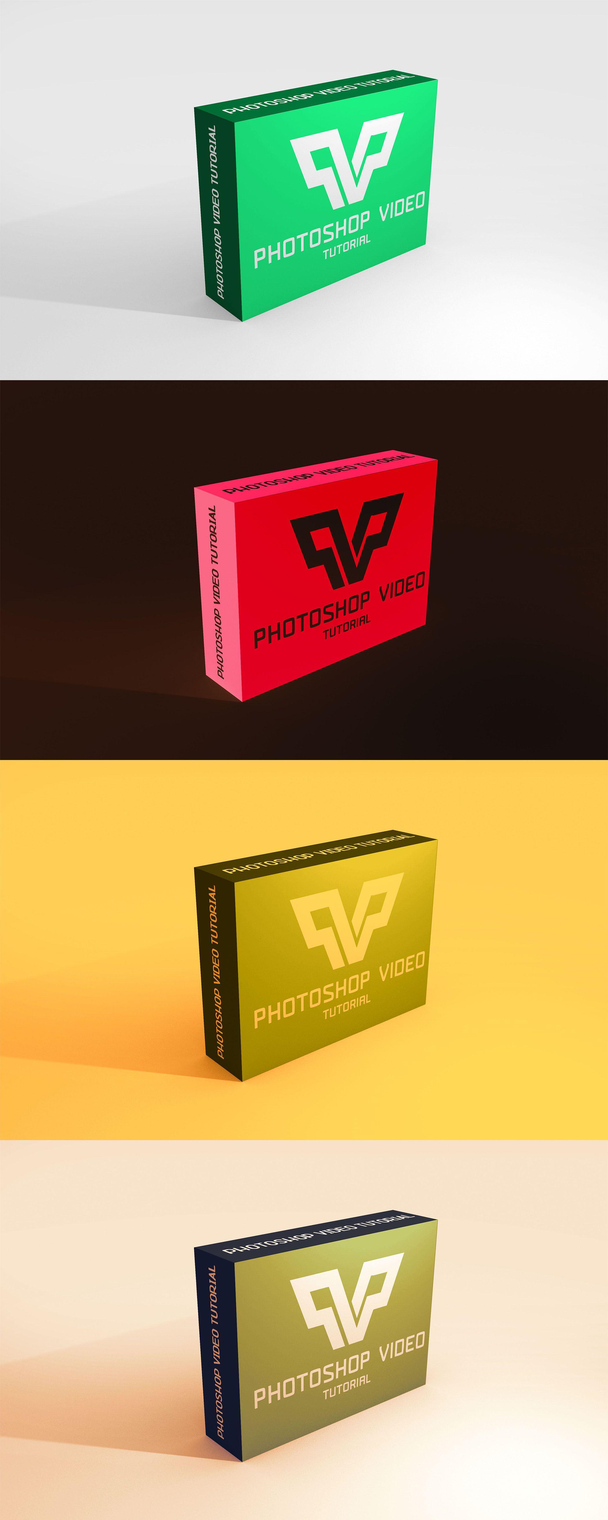 Download Colourful 3d Box Mockup Mockup Free Psd Free Mockup Free Logo Mockup