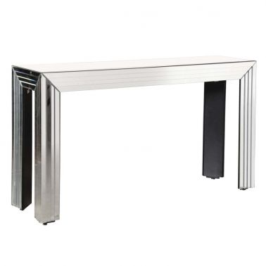 NEW! Emerald Cut Mirrored Console Table by FB STUDIO mirrored side table home interior modern deco