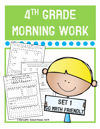4th Grade Morning Work Set 1 - This is a set of 4th Grade ...