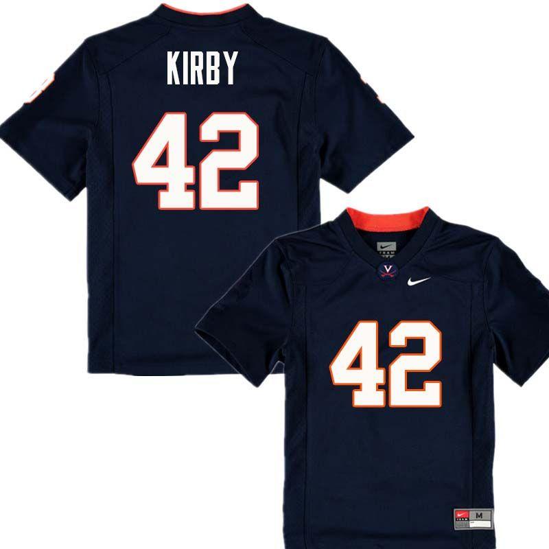 Men 42 Terry Kirby Virginia Cavaliers College Football Jerseys Sale Navy Virginia Cavaliers Football Jerseys Jersey