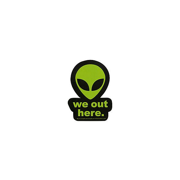 Loungefly We Out Here Alien Sticker | Hot Topic ($2.99) ❤ liked on Polyvore featuring accessories and loungefly