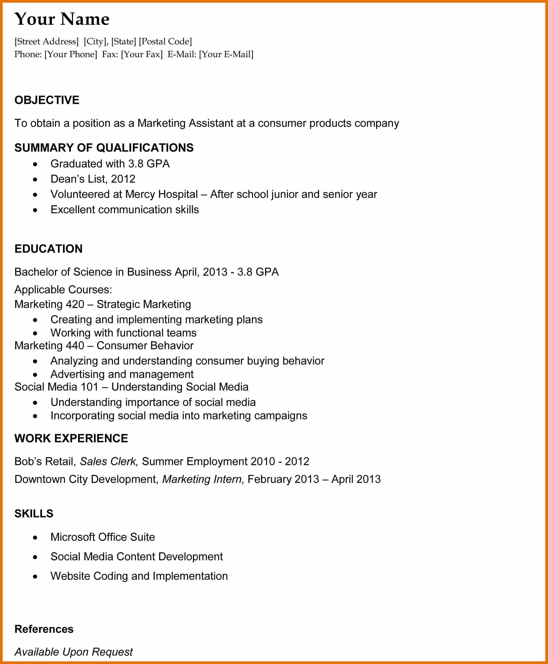 Resume Examples College Graduate College Examples Graduate