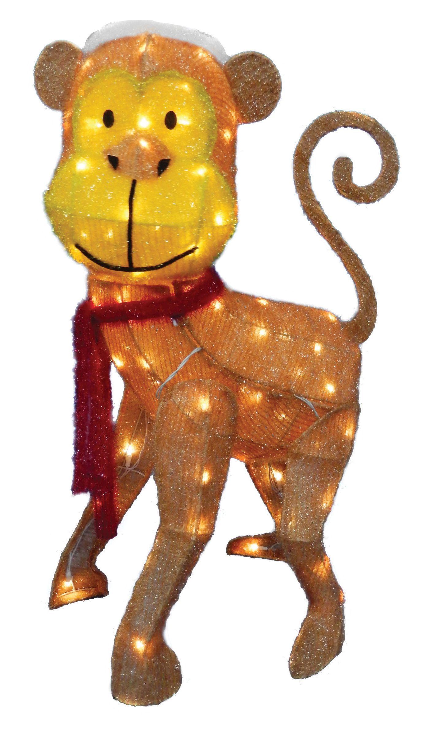 There S Always Time To Monkey Around This Christmas Season Http Www Menards Com Main P 2389571 Christmas Yard Decorations Christmas Yard Animated Christmas