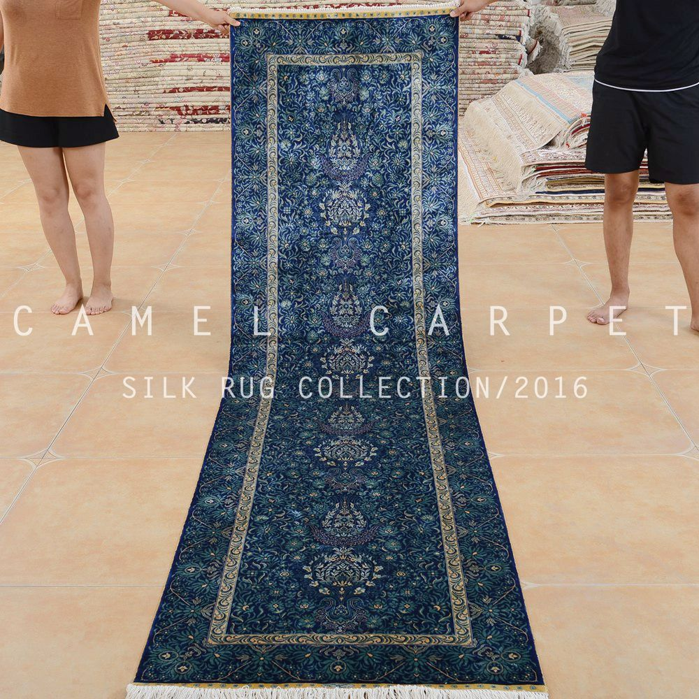 Handmade 2.5x9 Feet Blue Silk Persian Luxury Stair Runner Carpet   Buy  Luxury Stair Runner Carpet,Luxury Stair Runner Carpet,Luxury Stair Runner  Carpet ...