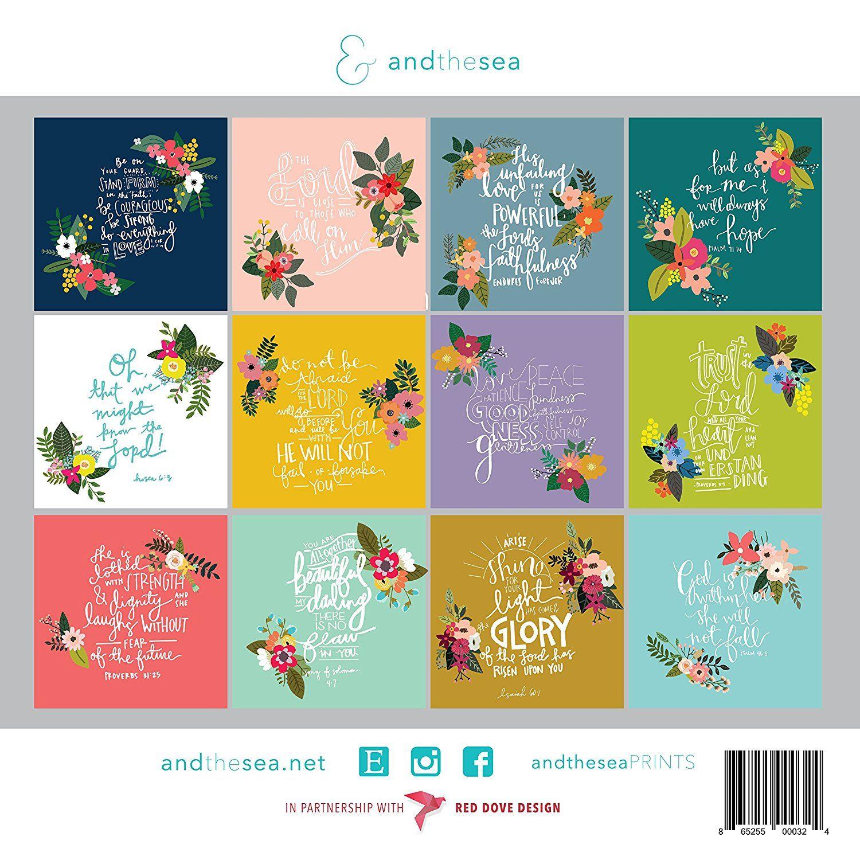 Amazon Com 2018 Christian Calendar With Floral Bible Verse Scriptures Planner Wall Calendar Office Pro Christian Calendar Floral Bible Verse Calendar