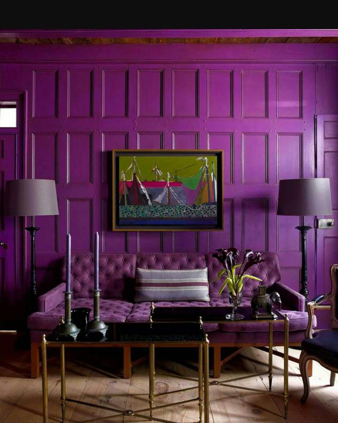 Épinglé par Marina Maireaux sur Salon violet   Idée déco ...