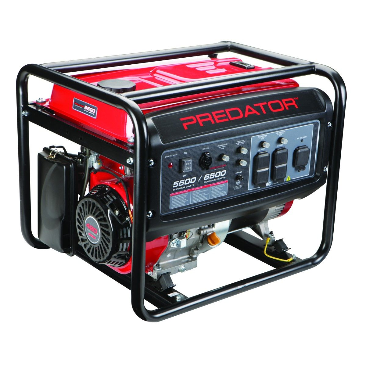 6500 Peak 5500 Running Watts 13 Hp 420cc Generator Carb