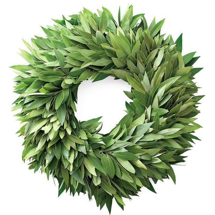 Bay Leaf Wreath By Williams Sonoma Leaf Wreath Wreaths Diy Leaf Garland