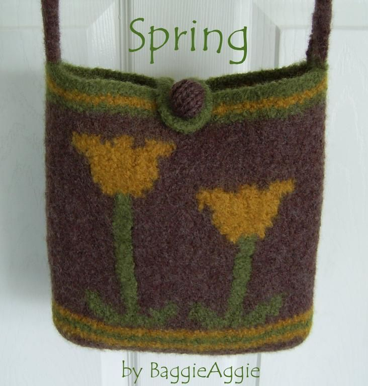 No Sew Felted Bag Purse Spring Purse Patterns Free Felt Purse