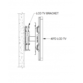 LCD TV wall mount CAD detail | Autocad drawing in 2019