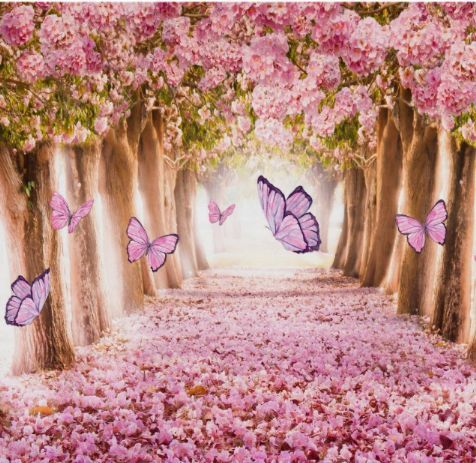 Butterfly backdrop, enchanted forest garden party poster | Zazzle.com