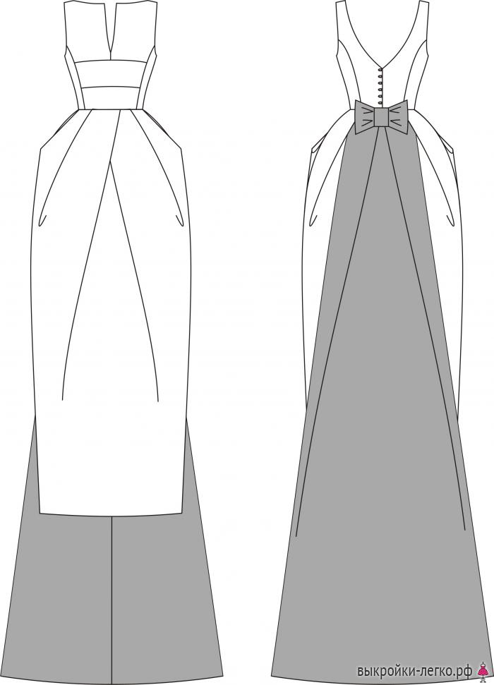 Платья для торжеств выкройки