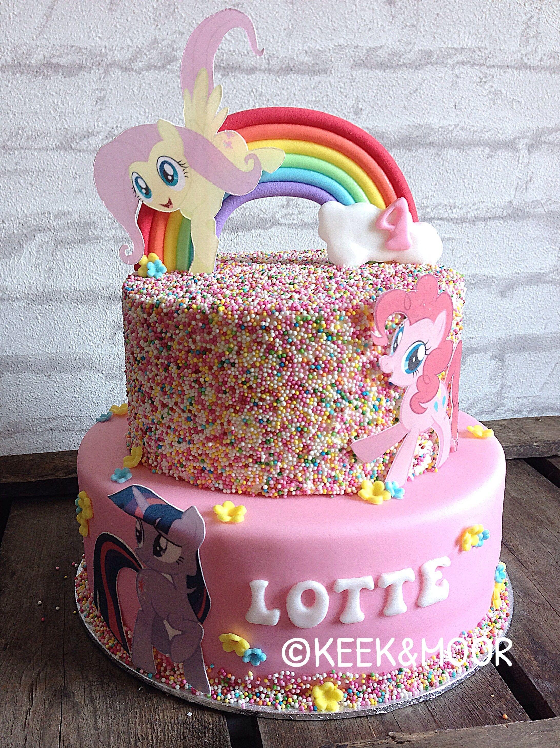 Little Pony Cake With Sprinkles Girl Inspired