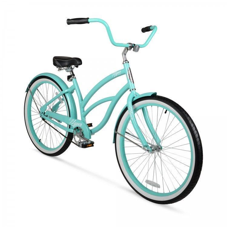 Women Beach Cruiser Bicycle Ladies Aluminum Frame Turquoise 26 One Speed Hyper Cruiser Bike Beach Cruiser Beach Cruiser Bicycle