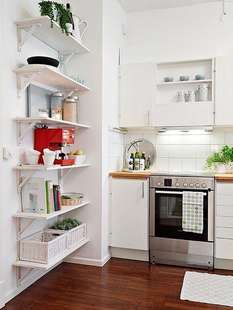 Arte d 39 casa prateleiras que organizam tudo hogar for Estantes para cocina pequena
