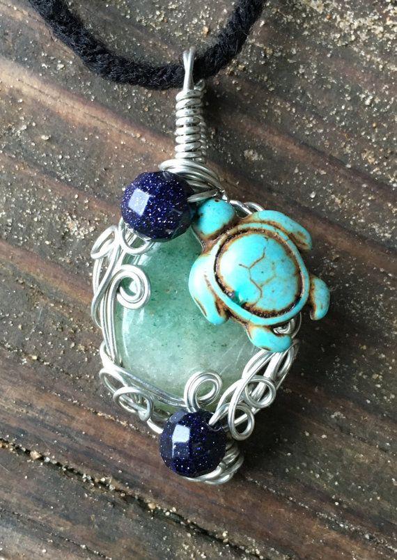 Muscovite / Muscovite Pendant / Turtle / Blue Goldstone / Pendant ...