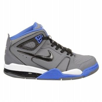 quality design ba0a7 8b8fb ... nike mens air flight falcon sneakers (grey black royal blu)