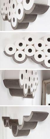 Bewölkter Tag Toilettenpapier Lagerung   Toilettenpapierhalter, Badezimmer -  #badezimmer #be... #toiletpaperrolldecor