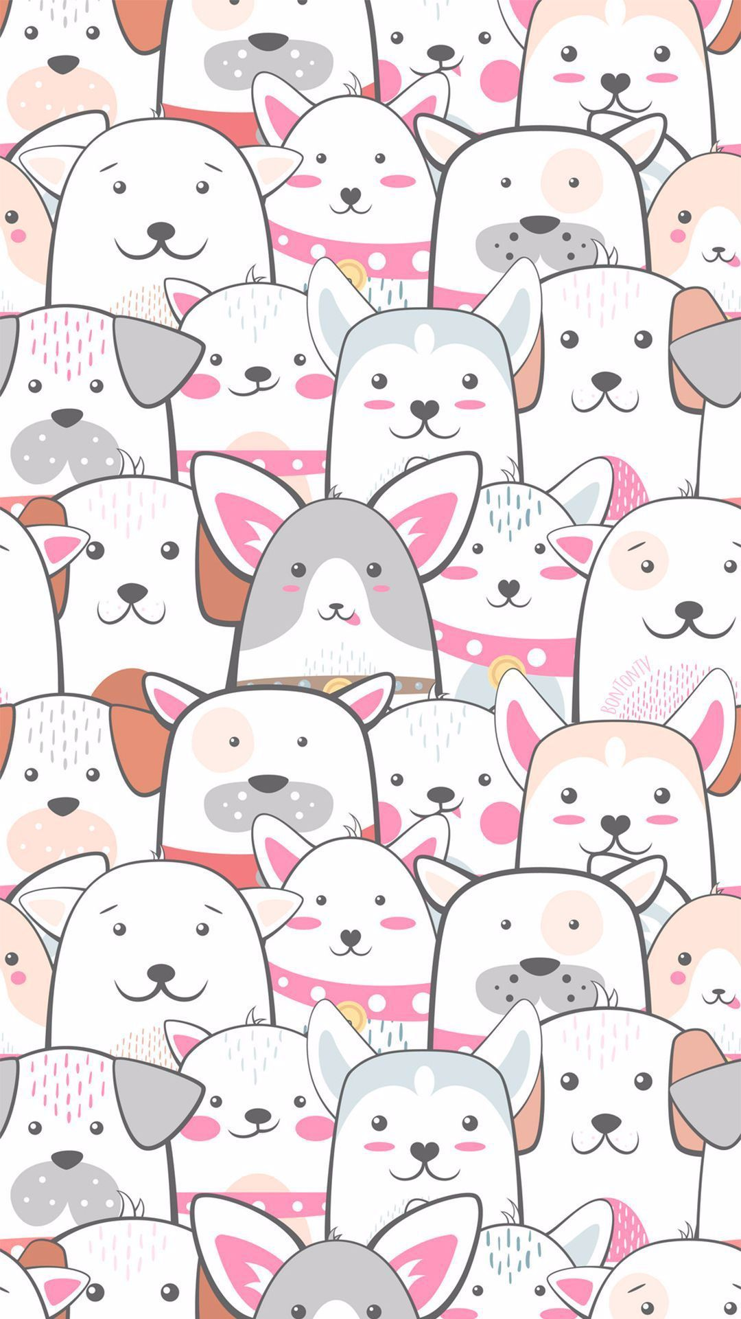 phone wall paper watercolor Phone Wallpapers HD Cute Dogs  by BonTon TV  Free Backgrounds 1080x1920 wallpapers iPhone smartphone Here you can find a collection of elegant...