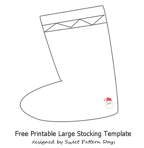 large stocking template  Large Stocking Template | Stocking template, Christmas ...