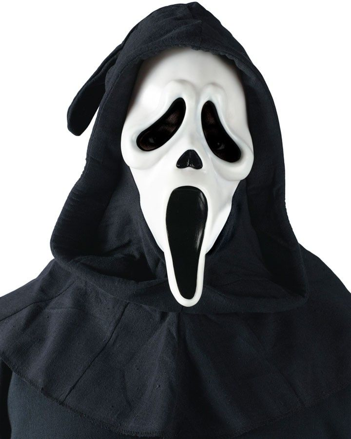 Scream White Ghost Face Mask Halloween Horror Costume Movie Cosplay Accessory