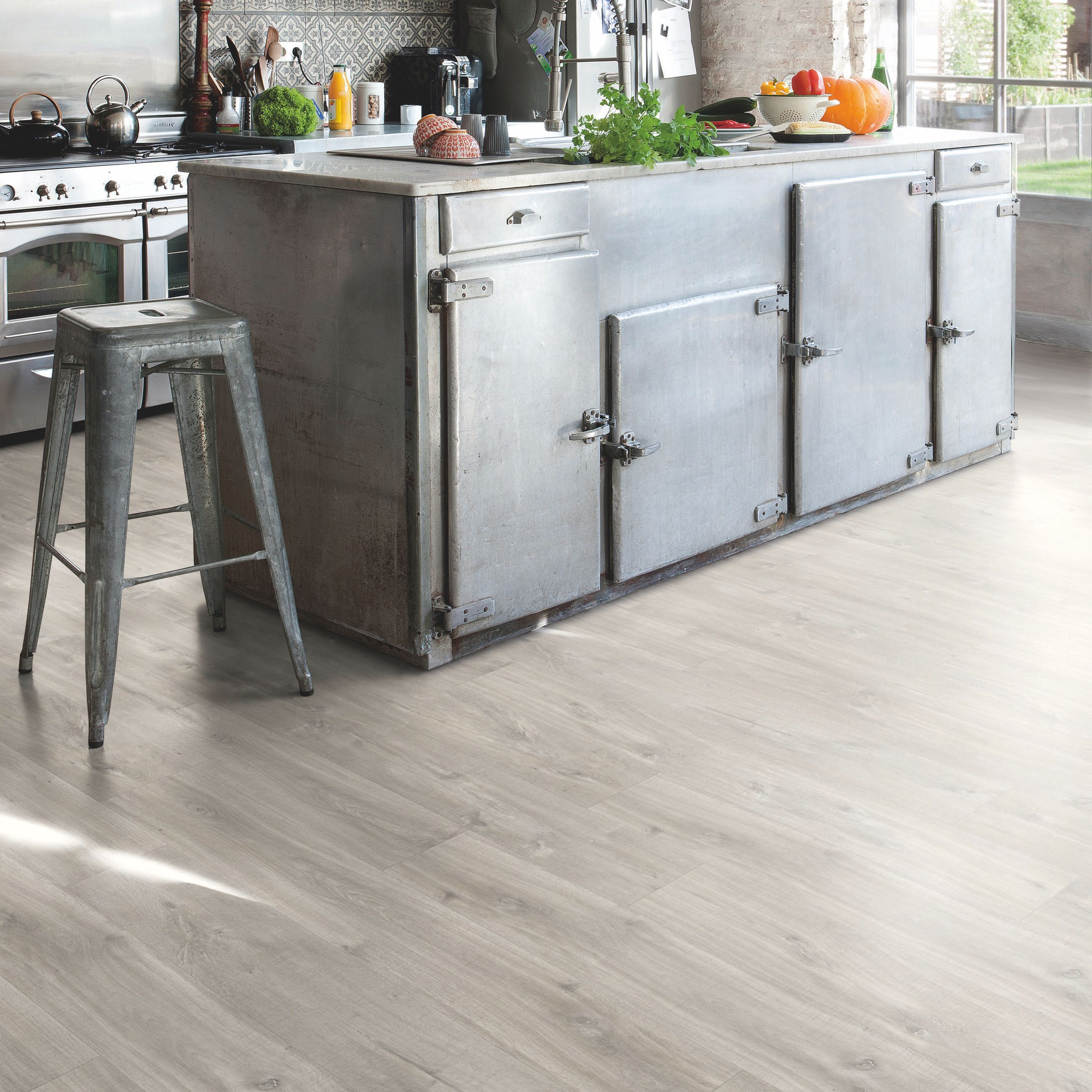 step paso oak grey effect matt waterproof luxury vinyl tile 2 105 m