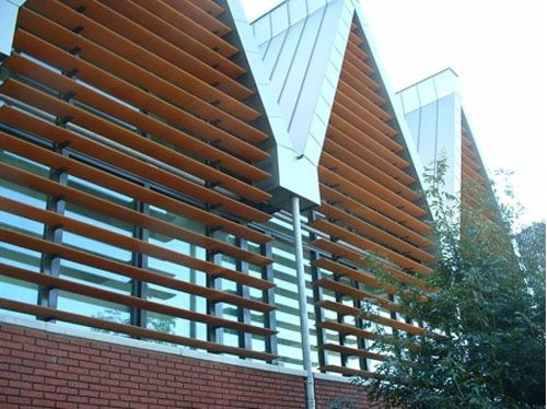 aluminum mullions with wood louvers - Google Search | arch ...