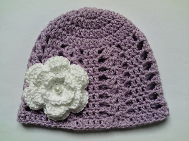 Crochet Baby Hat, Summer, 100% Cotton £6.99