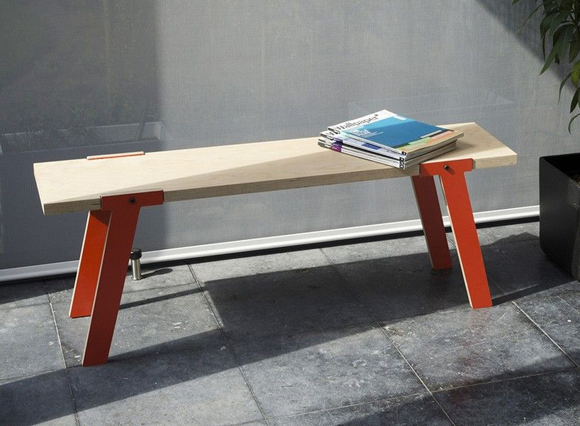 Switch Bench Features Multifunctional Parts Designboom Shop Wood Dining Bench Dining Bench Bench