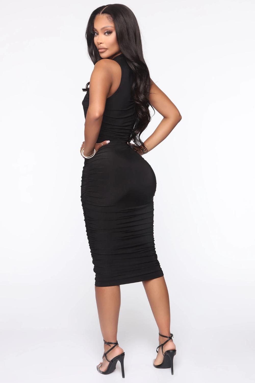 Perfectly Polished Ruched Midi Dress Black Ruched Midi Dress Black Midi Dress Dresses [ 1500 x 1000 Pixel ]