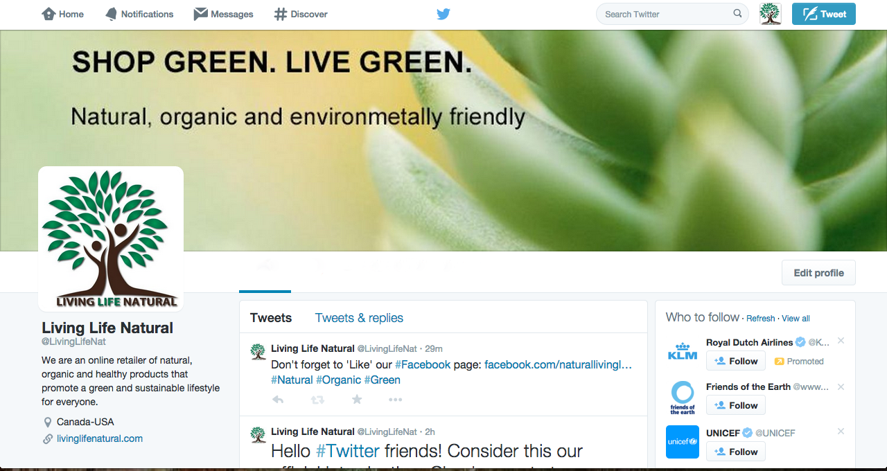 Please follow us on #Twitter @LivingLifeNat!