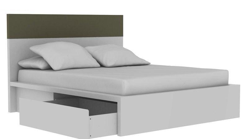 Twist Sengeramme - 180 x 200 - Flot enkel seng i hvid med flot ...