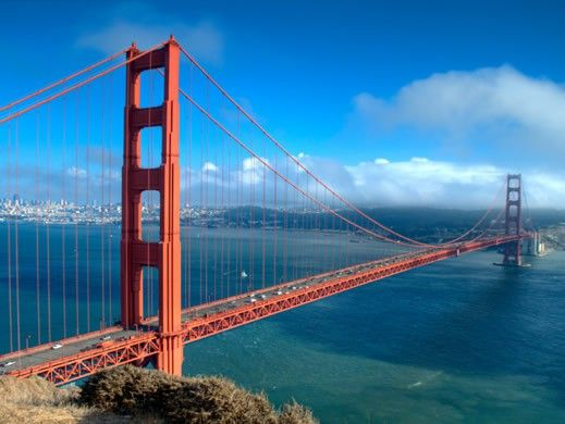To run across the Golden Gate Bridge