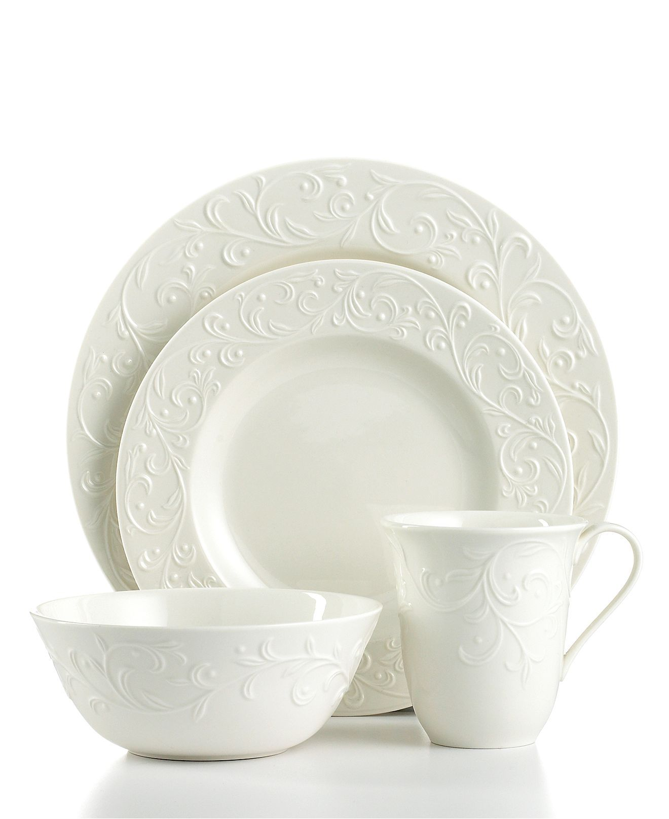 Lenox Dinnerware Opal Innocence Carved 4 Piece Place Setting - Lenox Casual Dinnerware - Macy\u0027s  sc 1 st  Pinterest & Lenox Dinnerware Opal Innocence Carved 4 Piece Place Setting ...