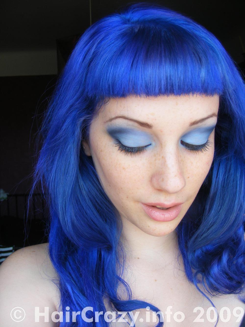 Blue Mayhem Is An Intense Deep Blue Semipermanent Hair Dye From - Hair colour in blue