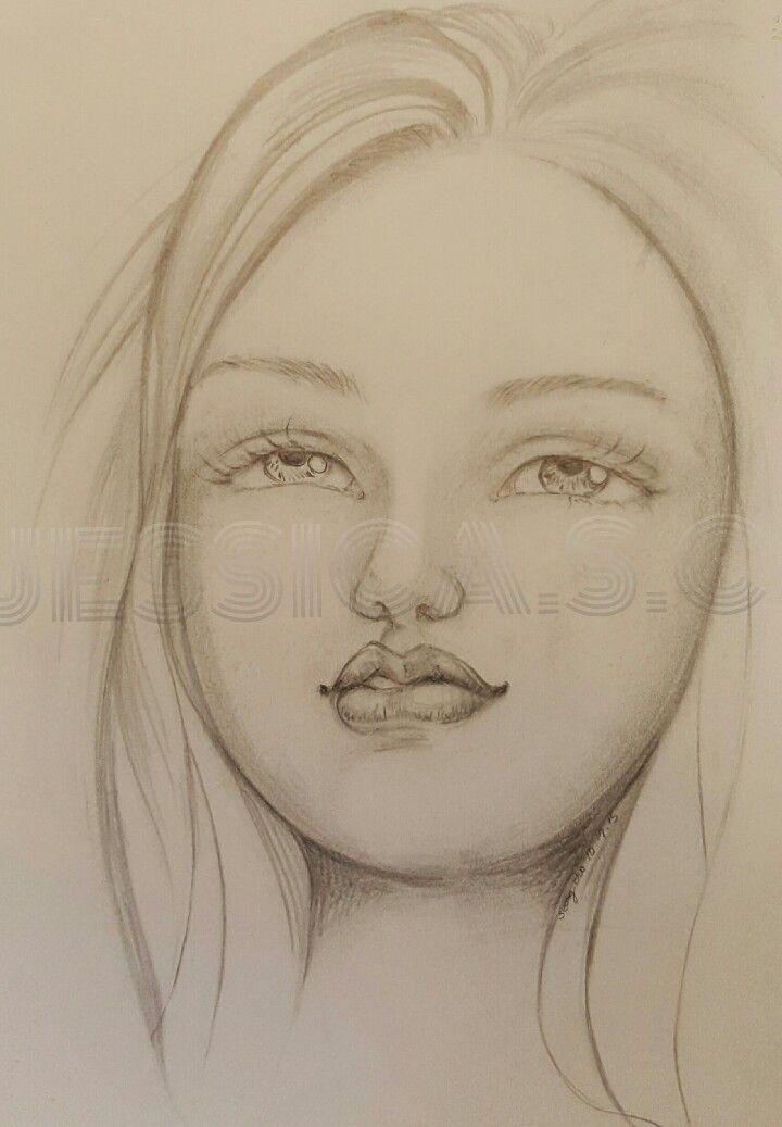 #Pencil #drawingoftheday #beautiful #Barbie #face #girl #doll
