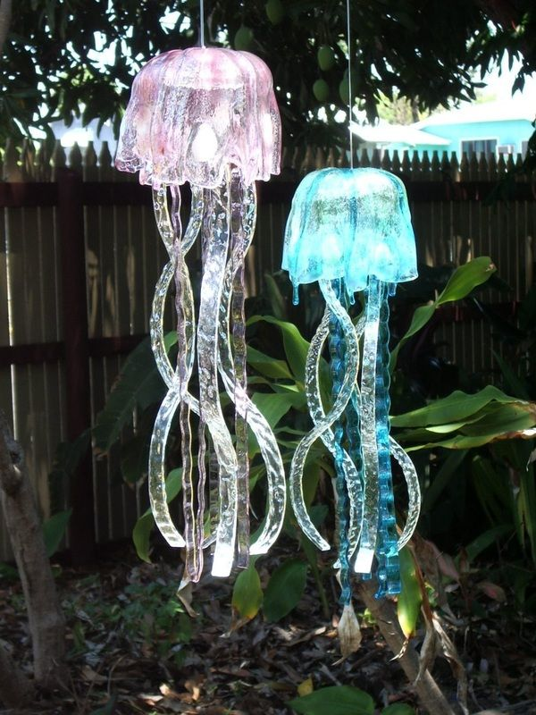 Glass Jellyfish Wind Chime The Sculpture Garden Glass