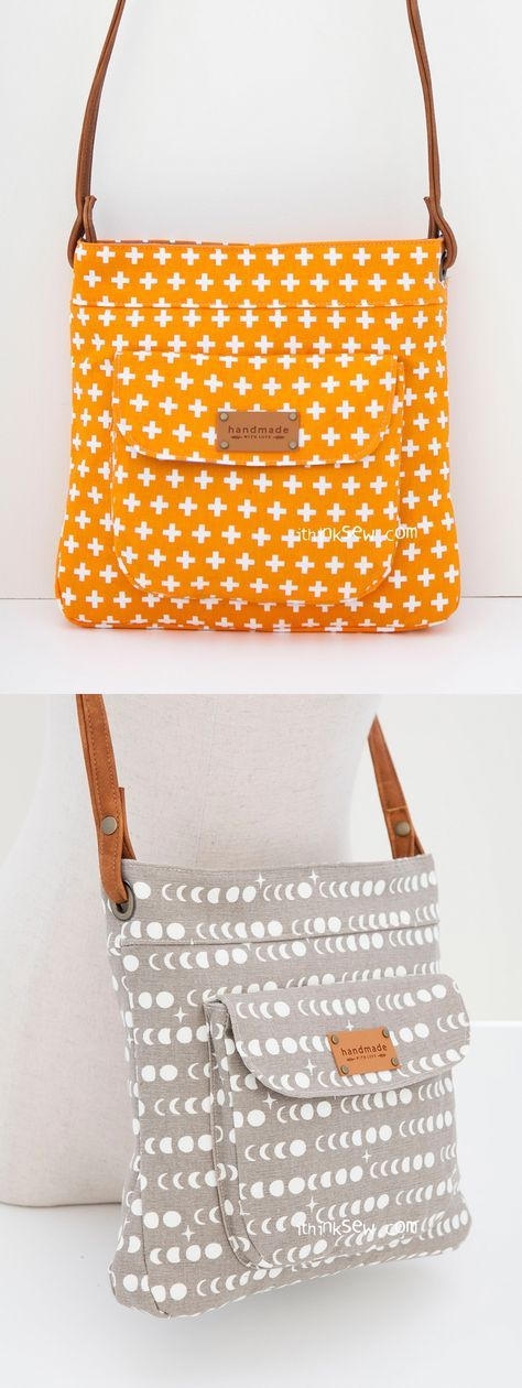 Jeannie Bag PDF Pattern - ithinksew.com   DIY Bag Patterns, Clothing ...
