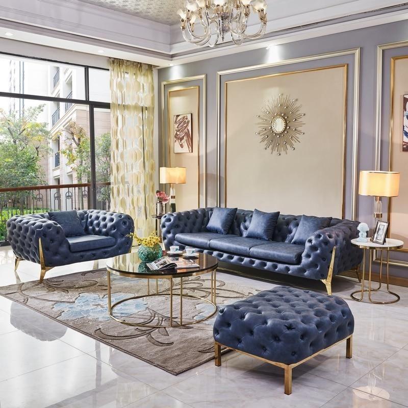 Luxury Design Blue Sofa Set Blue Living Room Decor Luxury Living Room Living Room Sofa Design