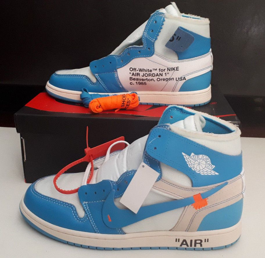 outlet store sale 1db14 472c0 Nike x Off-White Air Jordan 1 UNC Blue - Mens US 10 UK 9 EUR 44  fashion   clothing  shoes  accessories  mensshoes  athleticshoes (ebay link)
