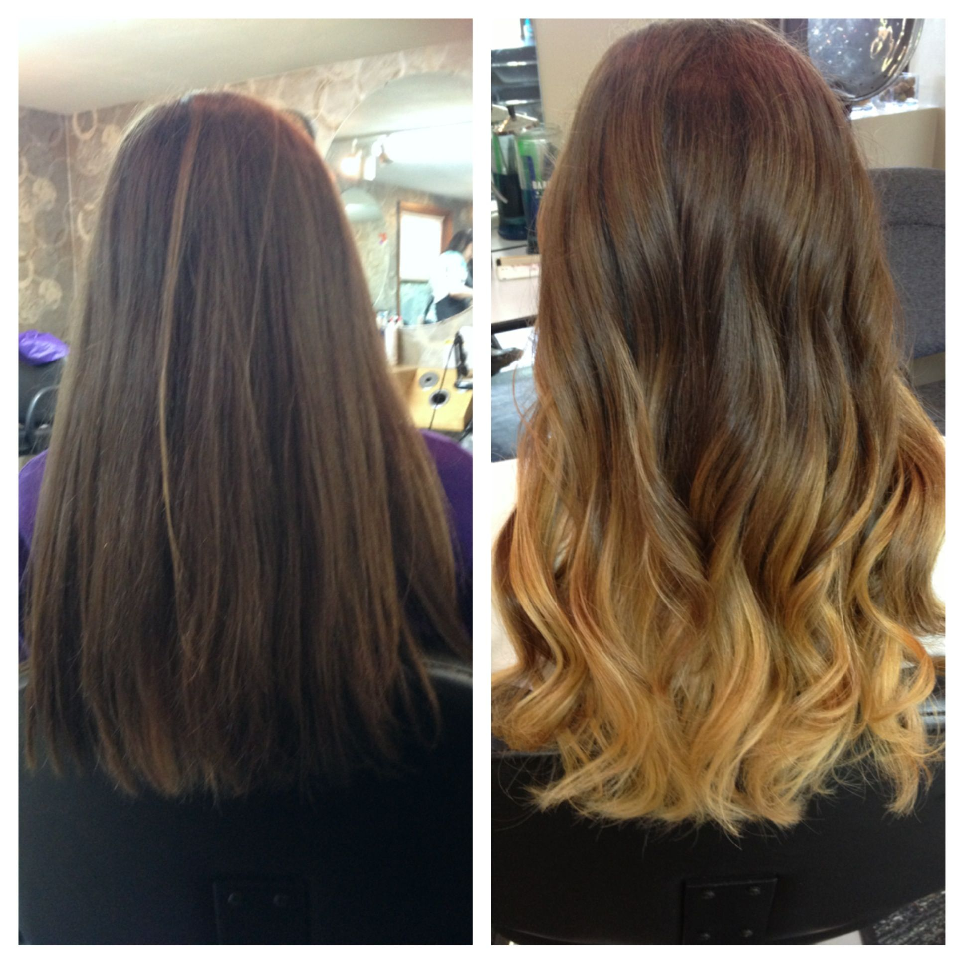 Ombre Hair Before And After Fashion Hair Ombre Hair Hair Styles