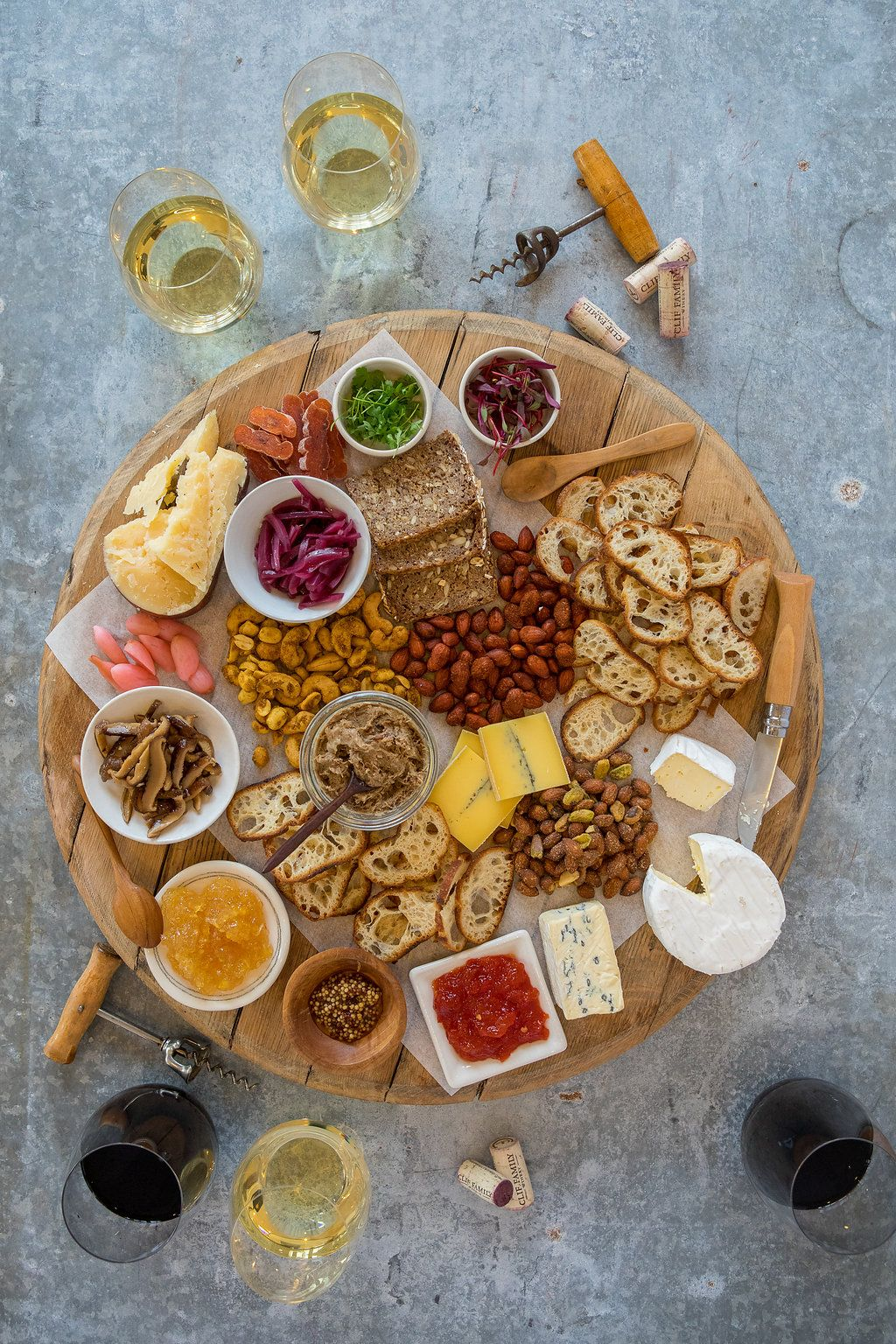 Pair our Clif Family wines with local cheeses, savory nut