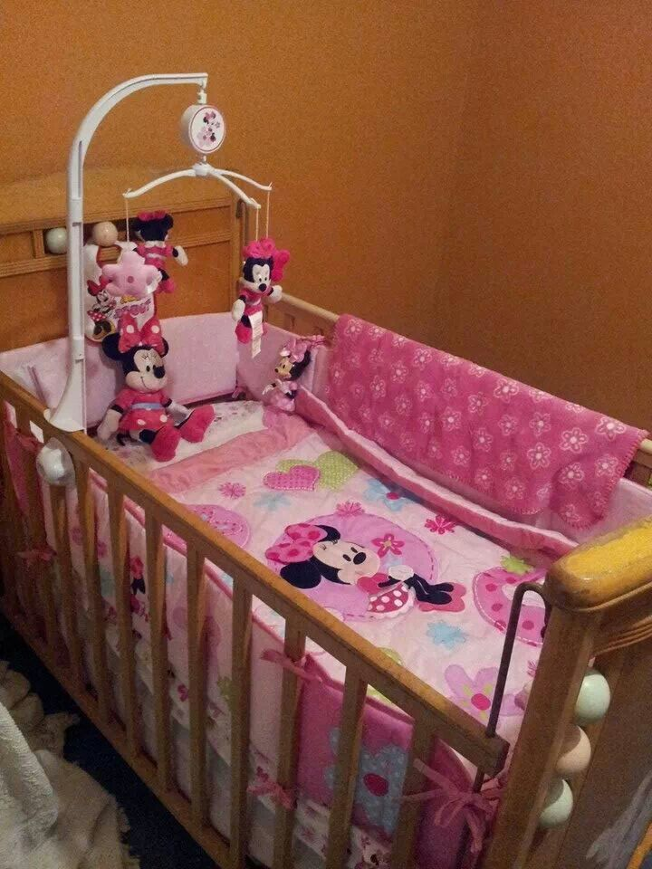 Minnie Mouse Nursery In A Antiqie 50 S Bed Baby
