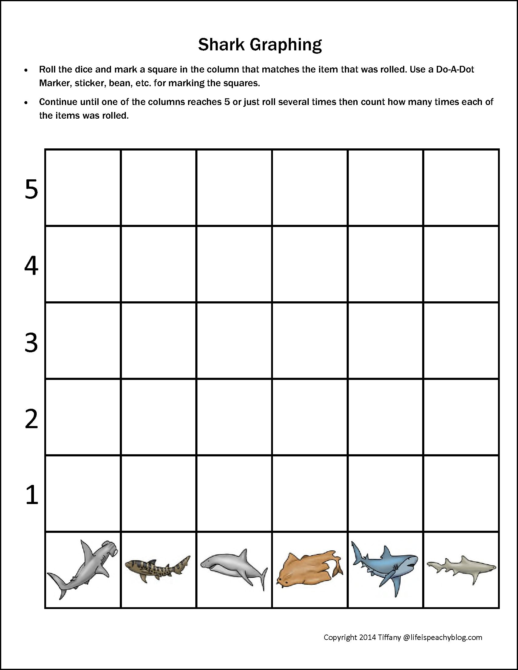Shark Printable Pack For Preschoolers