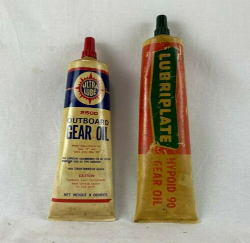 Vintage Lot Of 2 Ultra Lube Lubriplate Outboard Motor Grease Gear Oil Tubes Ebay In 2020 Outboard Motors Outboard Lube