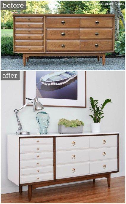 Mid Century Modern LA Period Dresser Makeover