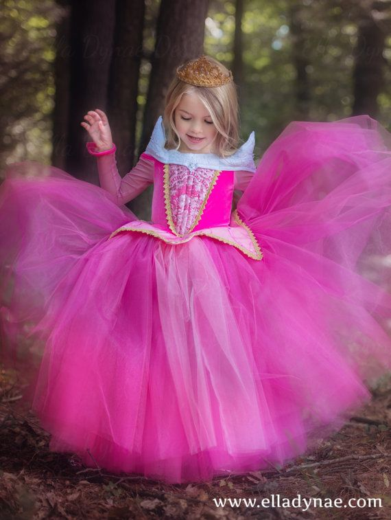 Sleeping Beauty Aurora Costume - Blue Pink Dress Maleficent Disney ...