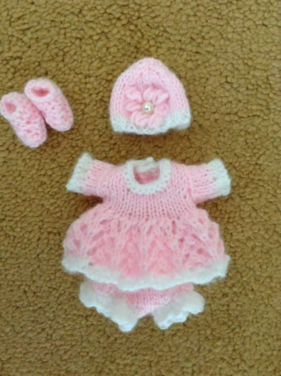 Hand Knitted Dolls Clothes To Fit A 45 Ooak Doll