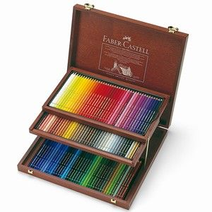 Faber Castell 120 Artist Colour Polychromos Pencils In Wood Case