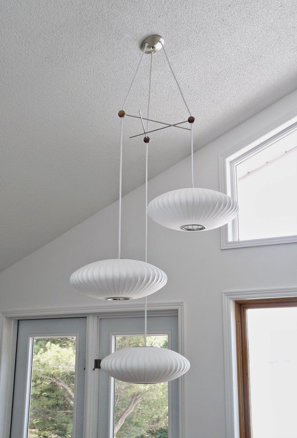 herman f lamp lighting furniture b id fiberglass saucer manufactured bubble miller chandeliers by george shaped mfg nelson lights pendant s